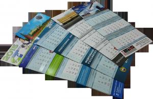 купить квартальные календари, квартальные календари Москва, заказать квартальные календари, печать квартальных календарей